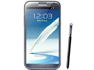 "The Samsung Galaxy Note ll is the brand's latest ""phablet"" and is a little longer and thinner than its predecessor."
