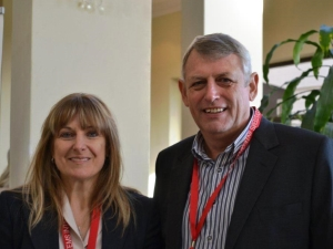 Christine Paquay, Kronos global product manager, with David Hunter, divisional director for Kronos, Bytes Systems Integration.