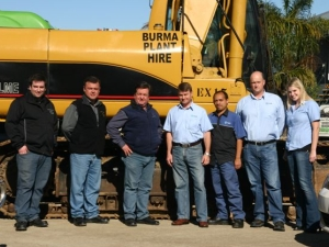 The Ctrack and Burma Plant Hire team.