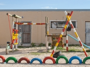 The playground of the Khayelitsha Christian Academy that will be upgraded as a result of the current Saratoga campaign.