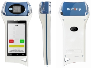 The Payment Blade from thumbzup is essentially a Payment Pebble and smartphone in one.