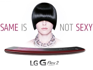 As smartphone form factor has become vanilla, curved screens may be a significant differentiator. (LG, advertising its new \