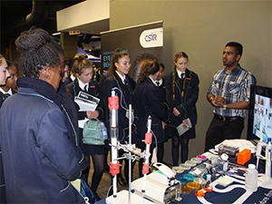 Career day exposed pupils to different areas of science such as drug discovery, radar and nanotechnology.