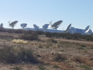 The first 16 dishes of the MeerKAT radio telescope are located at the Square Kilometre Array core site outside Carnarvon in the Northern Cape.