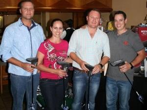 2nd place, the SimpliVity fourball: Left to right - Morne Van Rensburg, Talita Van De Heever, Trevor Hankey, Martin Vorster.