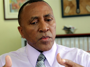 Suspended ICASA CEO Pakamile Pongwana.