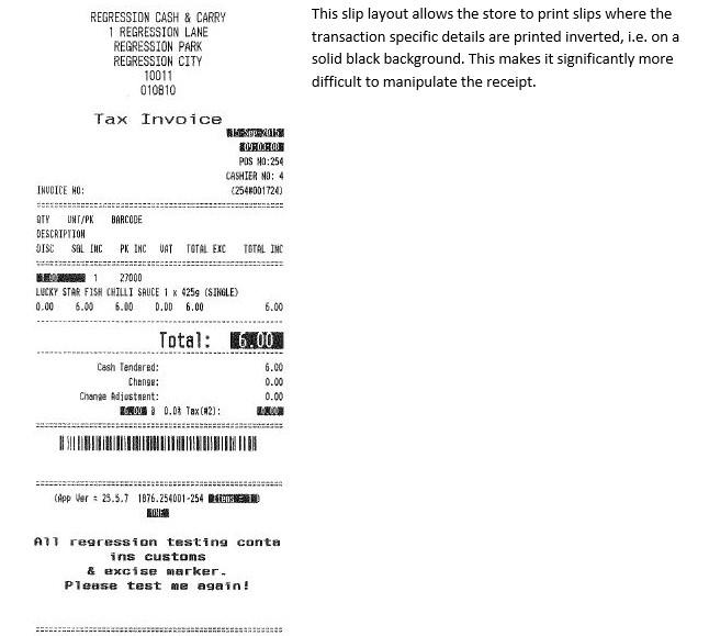 Alert on fraudulent till slip manipulation – Invoice Slips