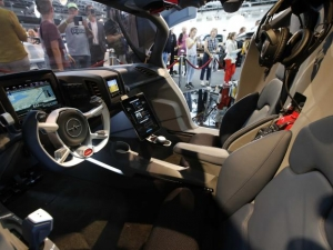 The interior of the AeroMobil Flying Car.