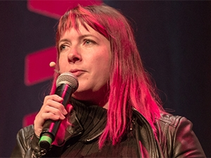 Lauren Beukes told delegates to use their power for good.