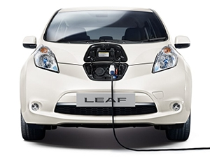 The technology transfers the energy stored in the Leaf's battery to a dedicated station, providing power for household needs.
