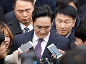 Under pressure: Samsung Group chief Jay Y Lee.