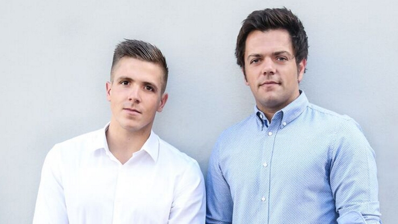 PropertyFox co-founders, Ashley James and Crispin Inglis.