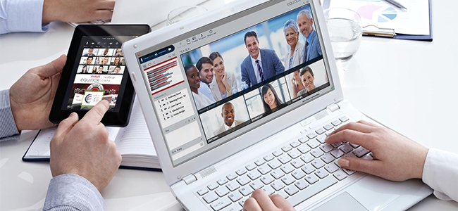 The Avaya Equinox Meetings supports up to 50 participants in its virtual meeting rooms.