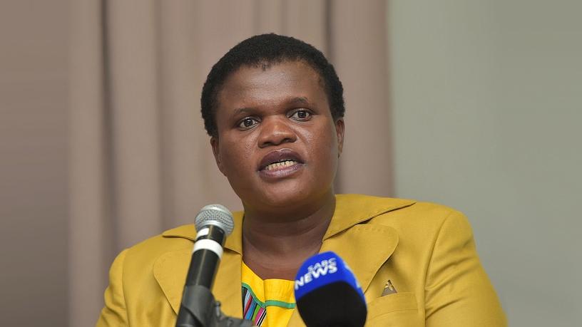 Former communications minister Faith Muthambi.
