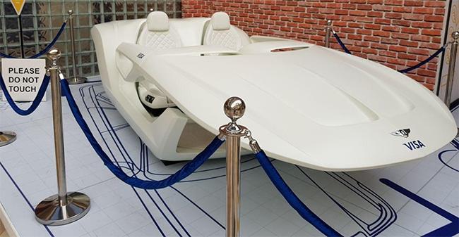 Futuristic concept car.