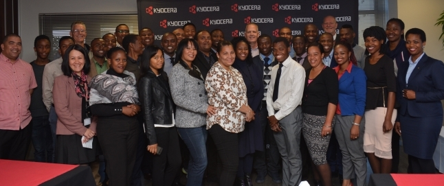 2017 graduates of the Potter's House xerography training, supported by Kyocera Document Solutions South Africa.