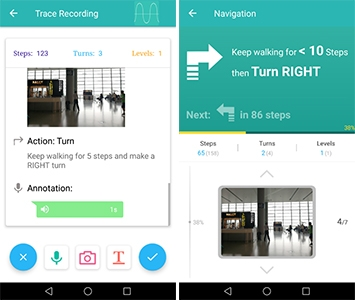 The Microsoft-developed app which will act as an indoor GPS.