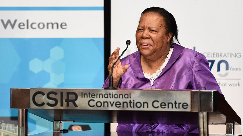 Science and technology minister Naledi Pandor.