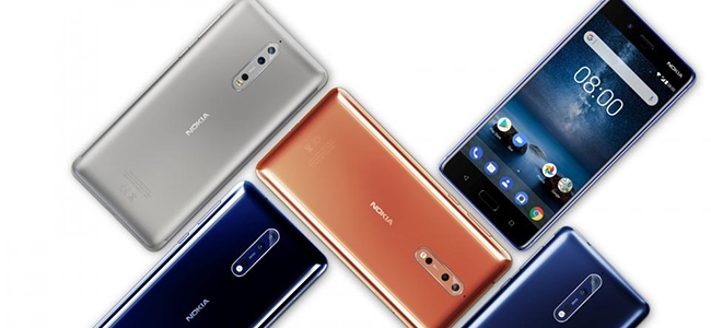 The Nokia 8 by HMD Global.