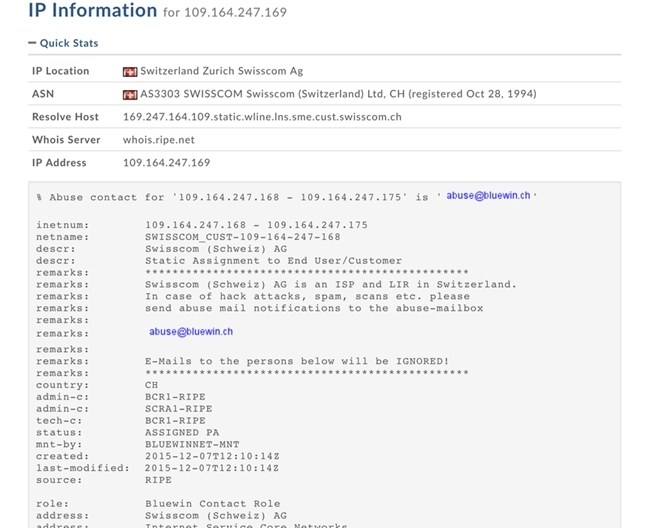 Fig-1 WHOIS info inside DomainTools.