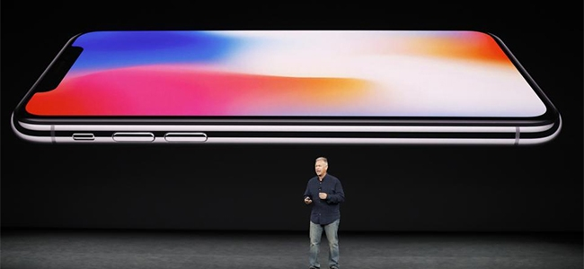 Phil Schiller, Apple senior VP of worldwide marketing, introduces the iPhone X.