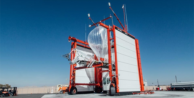 A Project Loon balloon to be used in Puerto Rico.