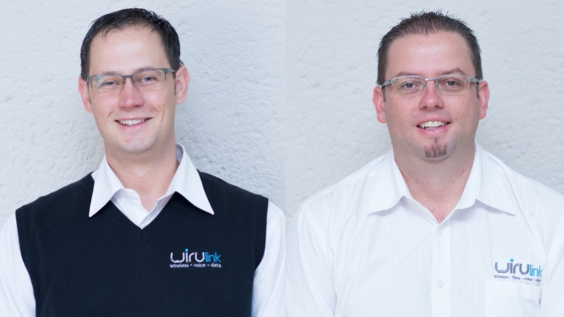 Riaan and Jaco Maree, co-founders of WIRUlink, a local fixed wireless broadband provider.