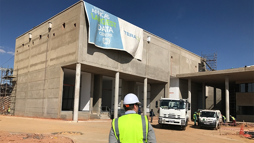 Teraco's Bredell hyperscale data centre facility during construction.