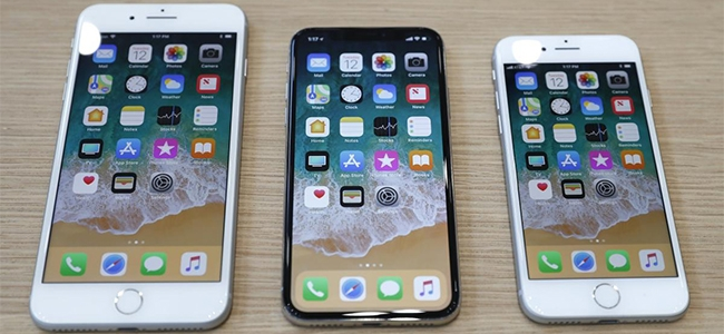 The iPhone 8 Plus, iPhone X and iPhone 8.