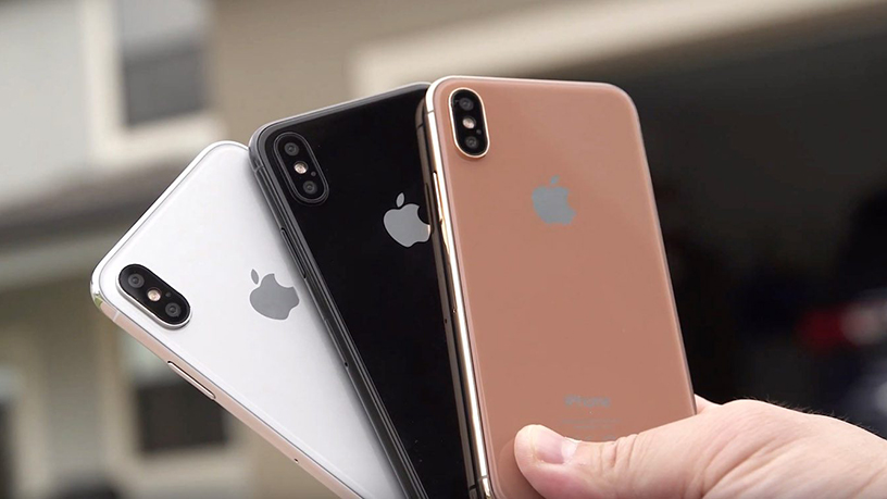 An image of how the new iPhone X is expected to look by 9to5Mac.