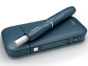 The iQOS smoke-free tobacco device.